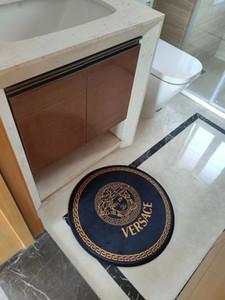 Redonda de la manera 60cm caliente Pequeña estera del piso de la sala de estar dormitorio Ronda cocina alfombra antideslizante Mat Baño