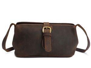 Designer-Fashion Fashion Mad Horse One Shoulder Bag Skew Girl Bag Retro Commuter Bag