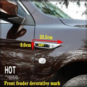High quality ABS chrome 2pcs car Front fender side mark adornment body decorative sticker with logo for Honda Accord 2014-2017(9 Generation)