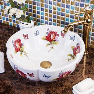Porcelain Bathroom ceramic counter top sink wash basin popular in europe art basin lavabo lavabo art basin