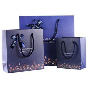 Özellikle mektupları INS Hediye Paketi Çanta Düğün Doğum Hediye Mavi Çanta Bez Alışveriş Kağıt Poşet baskılı