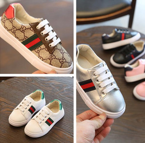 Bize boyutu 9.5-3.Children en rahat ayakkabı moda net nefes pembe eğlence spor erkek marka çocuklar için kızlar için beyaz ayakkabı koşu ayakkabıları