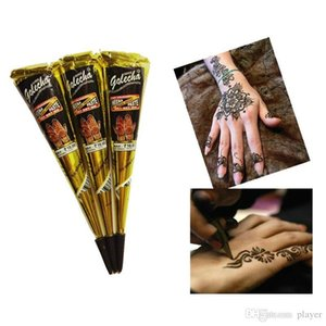 New Indian Henna Tattoo Paste Body Art Paint Mini Natural Indian Tattoo Henna Paste for Body Drawing Temporary 25g Draw On Body By Yourself