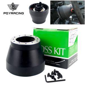 PQY - Negro Racing Steering Whub Adapter Kit de jefe para BMW E30 PQY-HUB-E30
