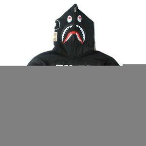 Top Design Ape Vestes Camo Shark Head Imprimer Men '; S Sweat de haute qualité Casual Outdoor Men'; S Hoodies