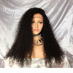 L Hot Sale Afro Kinky Curly Synthetic Wigs Brazilian Style African American Wigs Cheap Synthetic Lace Front Wigs Kinky Curly For Black