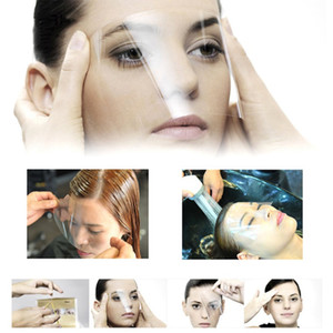 50pcs / Seti Tek Hair Pro Salon Plastik Hairspray Shield Gözler Yüz Koruyucu Maske