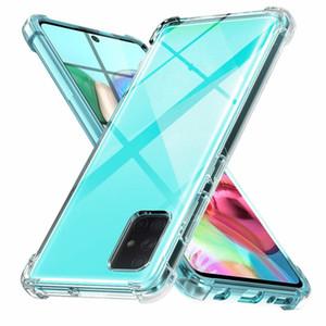 Телефон случае для Samsung Galaxy A70e A11 A41 A01 A51 A71 A10S A20S A20e силиконовый противоударный прозрачной крышкой