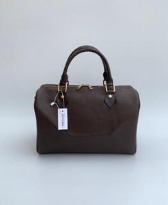 Bolsas de grife marrom 30 CM mulheres bolsas pu sacola de couro sacos de designer de moda famosa marca bolsa de ombro com cabeça de bloqueio