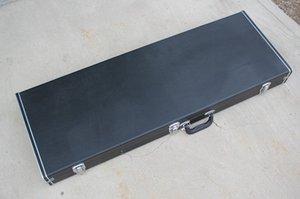 Factory Custom Black Electric Guitar Hardcase Bag for Double Neck guitar,Can be Custom Inside