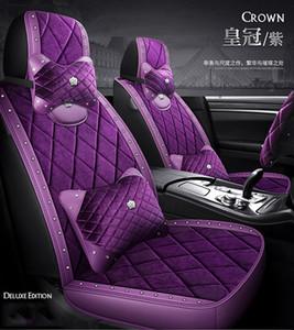 % 100 Doğal Rhinestones Swan peluş araba lada bmw toyota Audi Honda evrensel boyutu için elmas peluş koltuk minderi kısa Saç
