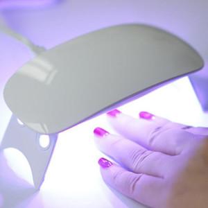 6W 6pcs séchoir à ongles LED Lampes UV Micro USB Gel Varnish machine Durcissement pour utilisation à domicile Outils Nail Art Lampes ongles