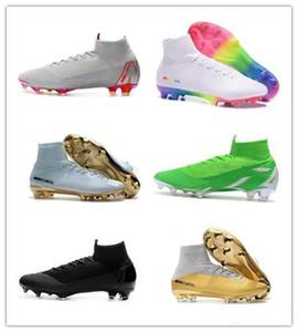 Новый стиль мужские Mercurial Superfly VI 360 Elite Ronaldo FG CR футбольные ботинки Chaussures футбол высокие лодыжки футбол