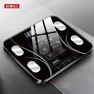 AIWILL Bathroom Scales LED Screen Body Grease Electronic Weight Scale Body Composition Analysis Health Scale Smart Home Y200106
