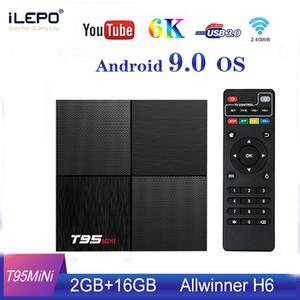 T95 MINI الروبوت 9.0 TV BOX الذكية ALLWINNER H6 2GB 16GB رباعية النواة 2.4GHZ ل6K WIFI ميديا بلاير PK T95 MAX
