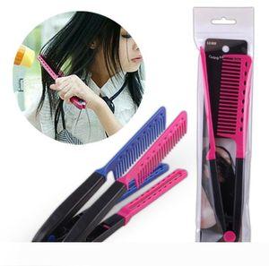 Cheveux professionnel Combs V Type Lisseur Peigne bricolage Salon de coiffure coupe de cheveux Styling outil salon de coiffure Peignes Anti-statique Brosse