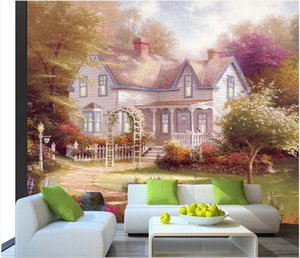 3d wallpaper stickers custom photo Super clear oil painting plain wood decorative painting background home decorate wallpaper for walls 3 d