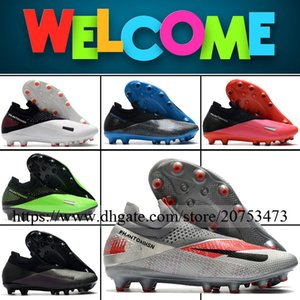 Phantom VSN II Elite Mens High Ankle AG Pro Football Cleats Soccer Shoes Outdoor Top Quality Leather Football Boots Soccer Cleats 6.5-12