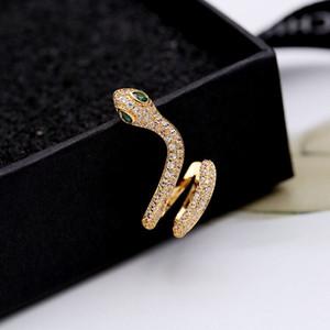 مثير فاخر مصمم المجوهرات النسائية الأقراط ثعبان رئيس حبة الخواتم مصمم الزوج للمشاركة هدية الأقراط الفضية مصمم الذهب