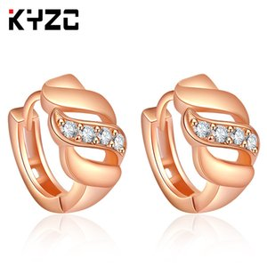 Classic fashionable European and American Earrings exquisite fashion rose-plated gold ear clip color retaining ear nails