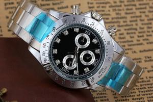 Silber New Top Luxusmode Herren Mechanische Edelstahl Automatikuhr Sport Herren Selbstaufzug Uhren Armbanduhren