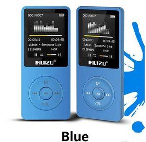 version originale anglaise Ultrathin Lecteur MP3 avec 8 Go de stockage et 1,8 pouces écran peut jouer 80h, Original RUIZU X02 DHL