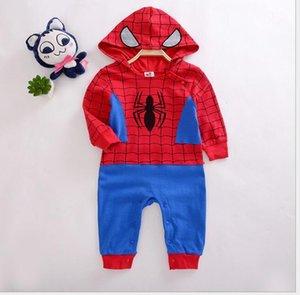 100٪ القطن ملابس الطفل السروال القصير سبايدرمان الطفل بذلة أطفال لطيف الطفل رومبير ملابس الأولاد سترة القفز هالوين هدية مخصص