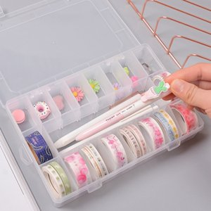 15 Grids Storage Box Transparent Plastic Box Fishing Tackle Jewelry Earring Beads Storage Container Bin