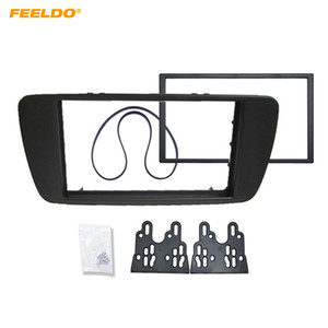 FEELDO Car 2DIN Refitting CD DVD Radio Fascia Frame for SEAT IBIZA Stereo Dash Face Plate Frame Panel Mount Kit #5227