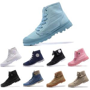 boots Горячие продажи новый дизайнер обуви палладий куницы армия зеленый кроссовки удобные дешевые ботильоны зашнуровать холст мужчины Повседневная обувь бесплатная доставка