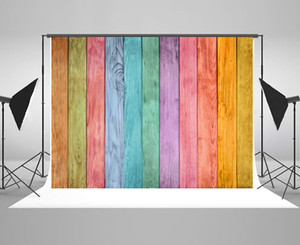 Kate Colorful Wood Wall Photography Backdrops Rustic Wooden Wall Background Microfiber Adults Kids Boys Portrait Photo Studio Props Backdrop