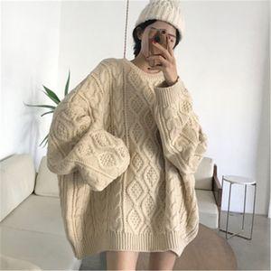 Maglione Donna Autunno Inverno Solid oversize maglione Elegante Casual Knit Donne Pullover Plus Size Tops ponticello sweter 35