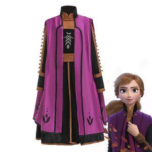 Fantasia da rainha da neve 2 Princesa Anan Vestido + casaco + calça Cosplay para meninas Else Christmas Fairy Roupa Set Inverno Tale Frcoks por DHL