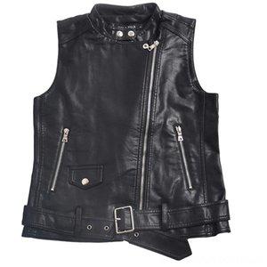 Women faux Leather Women's Outerwear & Coats Women's Clothing Vests Ladies Motorcycle Zippers PU Vest WaistCoat female
