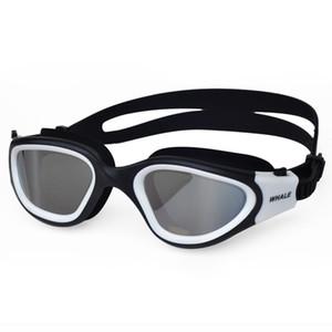 Профессиональный взрослый противотуманный УФ-Защита объектива Мужчины Женщины плавательные очки водонепроницаемый регулируемый силиконовые плавать очки в бассейне C19041201