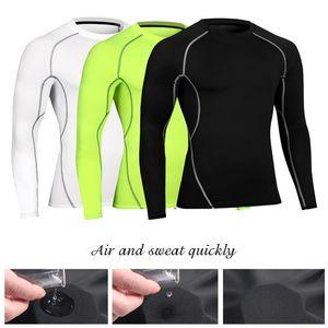 2020 New Hot Summer Men's tight fitness exercise running training T-shirt stretch speed dry long sleeve shirt