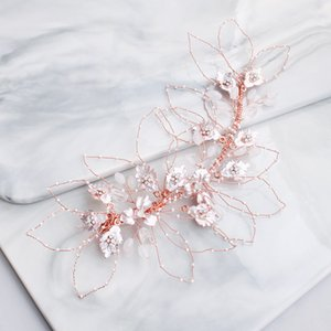 Hyperbole Hair Jewelry for Bridal Hair Accessories Gold Sliver Rose Gold 3 Colors Headband Hair Clips pince cheveux femme HA348