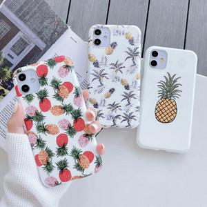 Delgado piña de la fruta del teléfono del iPhone para el 11 Pro Max XS TPU Max XR XS X 8 7 6 Plus Soft