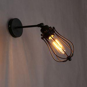 Retro Greyfurt Şekli Demir eser 360 Derece Evrensel Rotasyon Ana Bar Atmosfer Bulb olmadan Vintage Edison Duvar Işık Fikstür