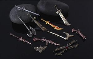 League of Legends LOL 11 Edição de Colecionador encaixotado Personagens LOL armas chaveiro pingente brinquedo para a chave do carro Bag Hot venda on-line