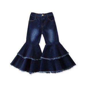 Kinder Denim Schlaghose Baby Flare Blaue Denim-Hosen-Frühlings-Herbst-lange Hose-Kind-Mädchen-Designer-Kleidung