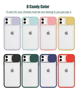 New Color Frosted Translucent Shockproof Lens Slide Phone Cover For iPhone SE 2020 11 pro Max XR 8 7 Plus 6s Slide Camera Hard Case