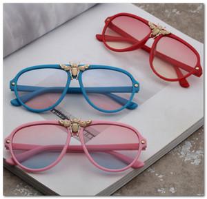 metales de marca para niños abejas de gafas de sol de moda los niños y niñas Uv 400 gafas de sol de los niños gafas de playa niños adumbral los vidrios de Sun J0861