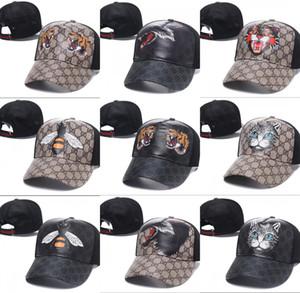 Мода Strapback Cap Bee Tiger Wolf Холст Мужчины Женщины Шляпы Марка Дизайнер кости Snapback Спорт Открытый G Caps на выходе Повседневная Шапка Бейсболка