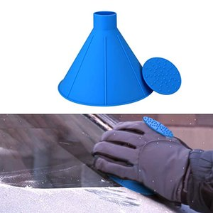 Free DHL Round Ice Scraper Windshield Magic Ice Scrapers Cone-Shaped Funnel Car Window Windshield Snow Removal Tool 4 Colors M898F