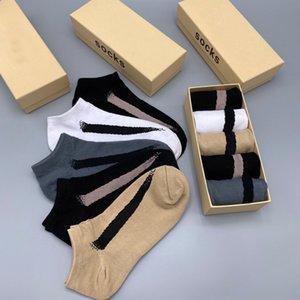Toptan 5 Çiftler Kutulu Yüksek Kaliteli lll207315 için Wear Running 2020 Yeni Erkek Çorap Moda Mektupları Ayak bileği Çorap Aktif Boys