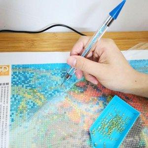 DIY 다이아몬드 회화 포인트 드릴 펜 크로스 스티치 자수 모자이크 네일 도구 쉬운 드릴링 핸드 메이드 액세서리를 작동하기 쉬운