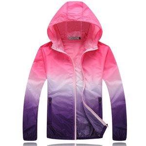 2018 Eté Sunscreen Coat Jacket Unisexe Coupe-vent imperméable à capuche mince Fermeture à glissière à séchage rapide