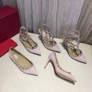 المرأة الكلاسيكية بيج رمادي مضخات جلدية أحذية خفيفة صنادل الشقق الشهيرة C العلامة التجارية كاب تو أحذية فستان الزفاف