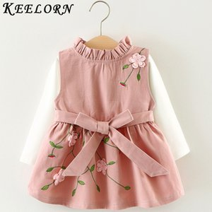 Keelorn 2020 Newest Style Summer Baby Child Cotton Vest Baby Princess Girls Toddlers Newborn Flower Dress Birthday Dress